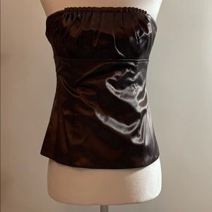 Strapless Bustier in silk sheen material